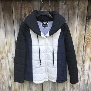 Splendid Colorblock Quilted Puffer Jacket